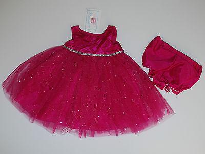 Kleid~USA~56-62~Babykleid~festlich~Mädchen~pink~Glitter~Marmelatta~Tutu~silber
