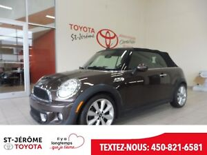 2012 MINI COOPER S *** CONVERTIBLE *** CUIR *** MAGS ***
