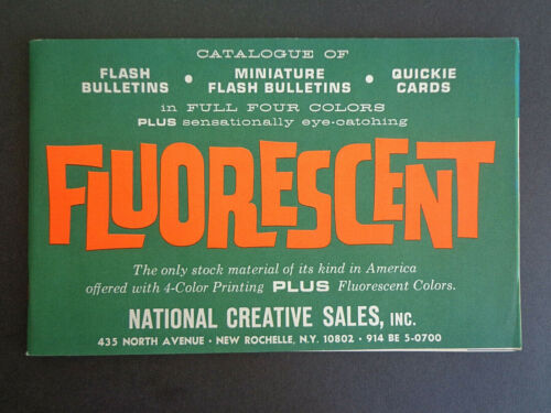 National Creative Sales, Inc. 1963 catalog Fluorescent Flash Bulletins INV2824