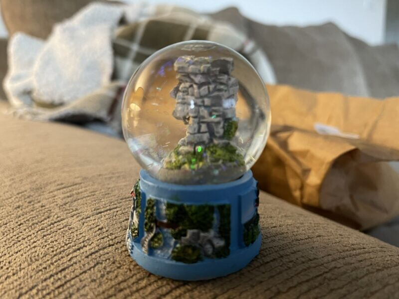 Rare New Hampshire Snow Globe Old Man Of The Mountain