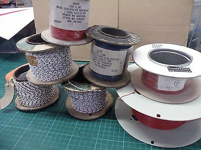 700 Metres 7 Rolls 7/0.2mm &other Wire Assorted colours Damaged Reels 1902(3 2k5