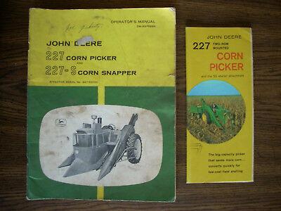 Jd John Deere 227 Corn Picker Owners Manual And Brochure