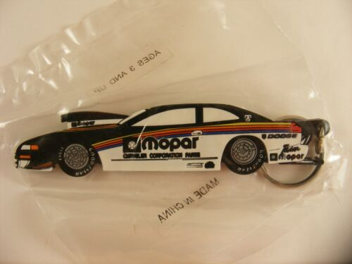 MOPAR Original Chrysler Rubber  Keychain New in Package NASCAR Racing