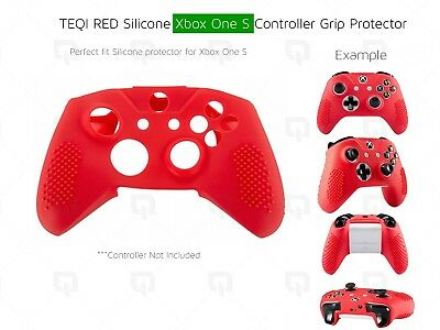 Xbox One S Red Silicone Shell Protector Grip Enhancer Protective Case Controller
