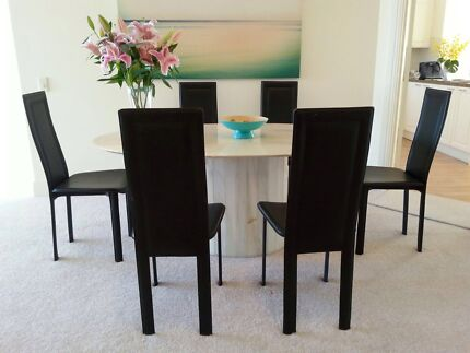 6 x leather dining chairs Wollstonecraft North Sydney Area Preview