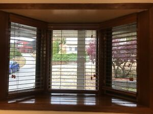 4 sets of Wood Slated Blinds