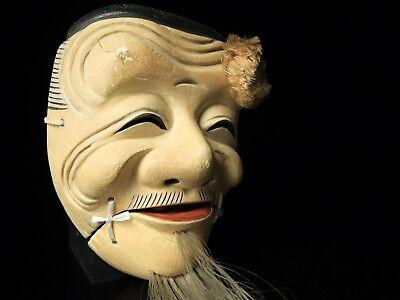 Japanese Handmade Noh mask OKINA kyougen kagura demon mask bugaku