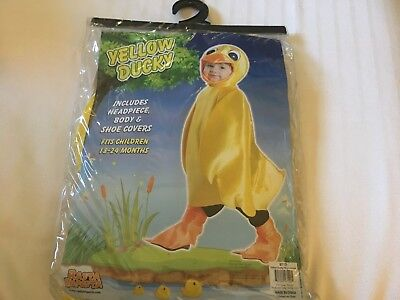 Yellow duck Ducky Halloween Costume Rubber Ducky 18-24 months New free s/h  ()