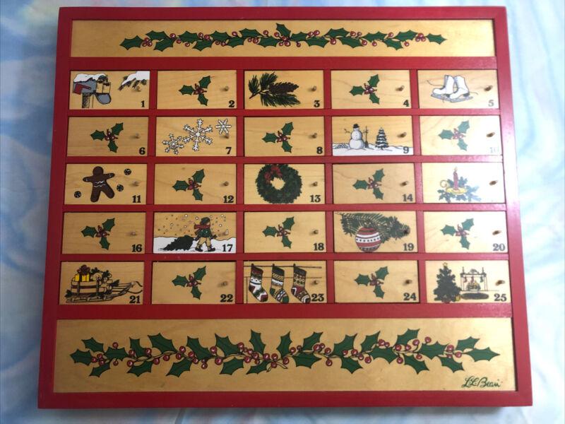 Vintage LL Bean Advent Calendar