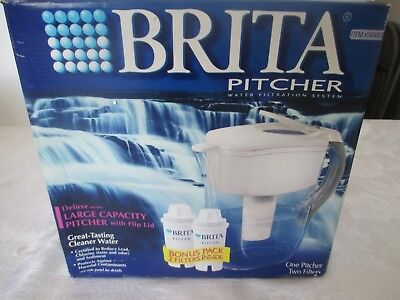 BRITA PITCHER WATER FILTRATION SYSTEM DELUXE MODEL w/2 FILTERS NIB  (Deluxe Filtration System)