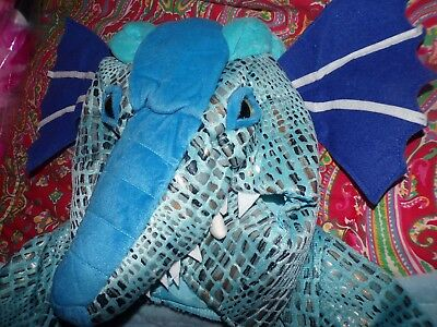 POTTERY BARN KIDS BLUE DRAGON COSTUME, 7/8. NEW - Dragon Horse Costume