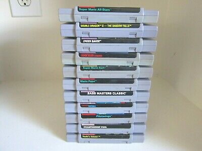 Super Nintendo SNES Lot of 11 games.