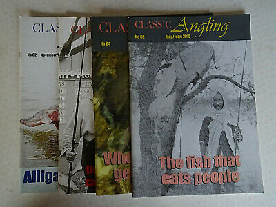 4x CLASSIC ANGLING MAGAZINES, FOR VINTAGE FISHING ENTHUSIAST NO'S 62, 63, 64, 65