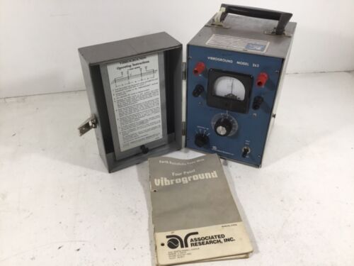 Vibroground Model 263 Associated Research 4 Point Earth Resistance Tester