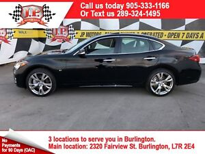 2015 Infiniti Q70 Premium, l Navi, Leather, Sunroof, AWD