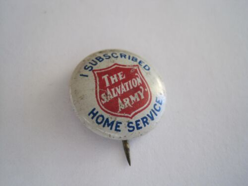 Salvation Army Pinback Antique 1917 Patent Date Home Service