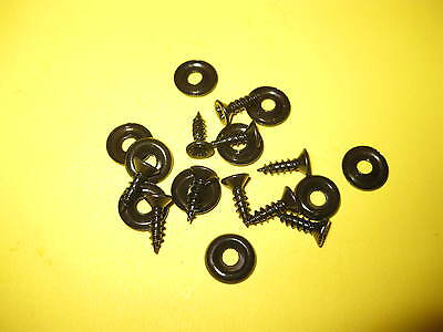 10 X BLACK No 6s CUP WASHERS  COUNTER SUNK SCREWS ALL CARS INTERIOR TRIM