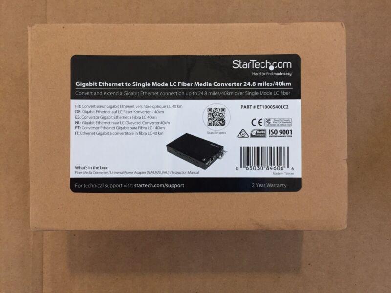 StarTech Gigabit Ethernet to Single Mode LC Fiber Media Converter 24.8miles/40km