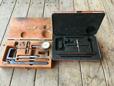 Starrett Dial Indicator 196 Wood Box Plus Extras