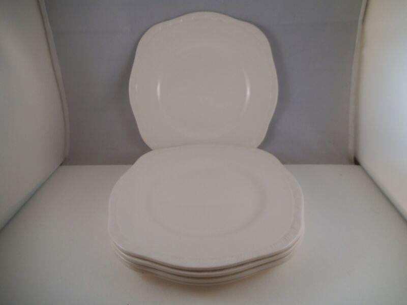 Vintage Alfred Meakin Set of Five White Salad Plates