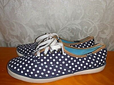 BLOW OUT SALE @ KEDS Polka Dot Lace Up Sneakers Loafers Womens Shoes Sz 6 ❤️b8