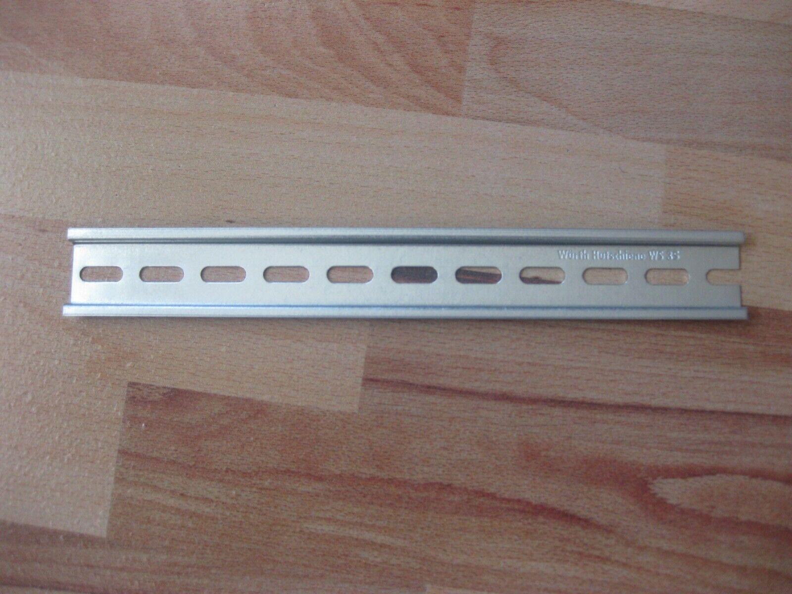 1 St. Würth Hutschiene WS 35 mm gelocht verzinkt 22,2 cm lang / 7,5 mm Höhe