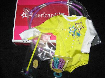 American Girl Doll McKenna's PERFORMANCE SET Green LEOTARD Hoop RIBBON Outfit +