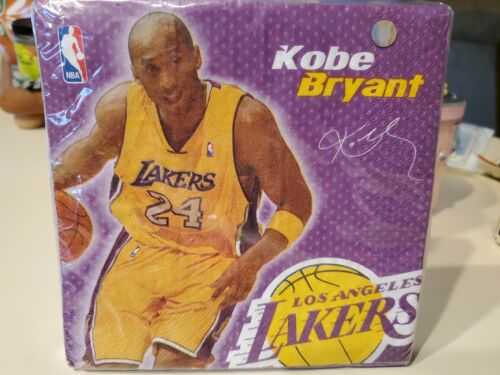Kobe Bryant Los Angeles Lakers RARE Luncheon Napkins 16 coun