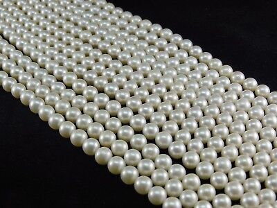 Cream White SIZE CHOICE Natural Freshwater Pearl Beads Round AAA