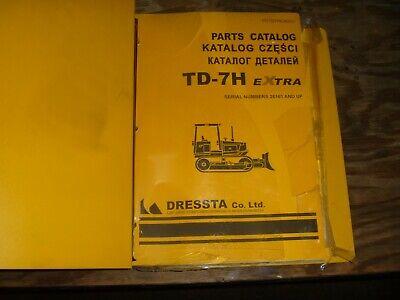 Komatsu Dresser Td-7h Extra Crawler Tractor Dozer Bulldozer Parts Catalog Manual