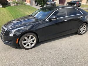 Cadillac ATS 2015 black AWD 2.0 Turbo