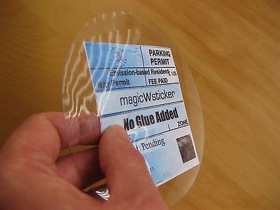 M1 Windscreen magicWsticker Static Parking Permit Holder No glue Added