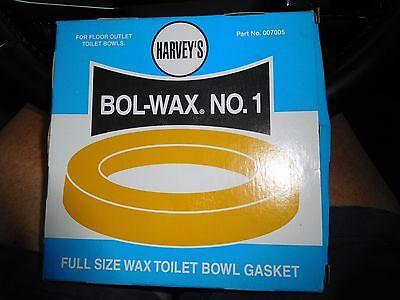 Toilet Bowl Wax Ring/No Flange Harvey's Wax Rings P/N 007005 UPC 078864070057 ()