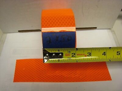 3m Brand Neon Orange Reflective  Conspicuity Tape 2 X 50 Feet