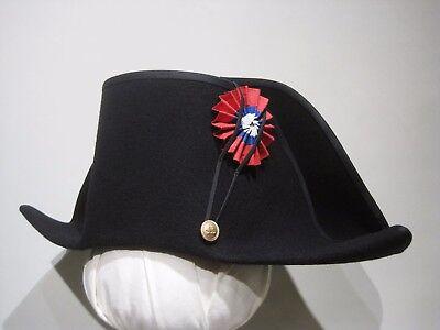 runk Mittelalter Marine 54-64cm Kostüm schwarz 15 Farben Hut (Napoleon-hut Kostüm)