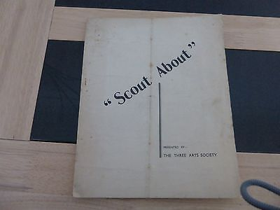 VINTAGE THEATRE BROCHURE BRACKNELL BERKSHIRE THREE ARTS SOCIETY SCOUT ABOUT