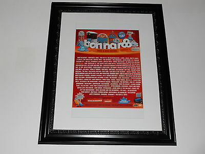"""Large Framed Bonnaroo 2013 Poster All Bands Listed McCartney, Wilco 24"""" by 20"""""""