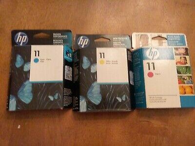 HP #11 INK DESIGNJET  C4836A, C4837A and C4838A  (Set of 3) comprar usado  Enviando para Brazil