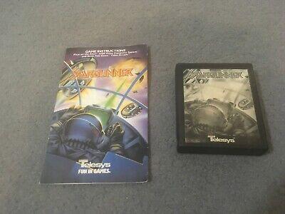 RARE Stargunner Atari 2600 Console game Telesys - Cartridge & Manual  B/W Label