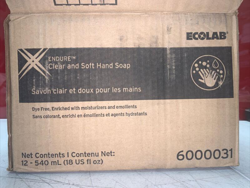 CASE 8 ECOLAB 6000031 ENDURE Clear & Soft Hand Soap Bottles 540 ml New Moisture