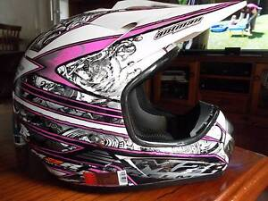 M2R helmet size S suit new buyer MX purple & white Port Noarlunga Morphett Vale Area Preview