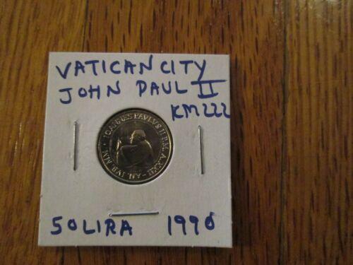 Vatican City Holy See 50 Lire Coin Pope John Paul ii Radiant Cross in open Door