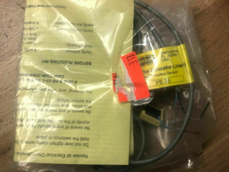 FABCO-AIR PE-25 PISTON POSITION HALL EFFECT SENSOR W/ LED  NEW IN PACKAGE