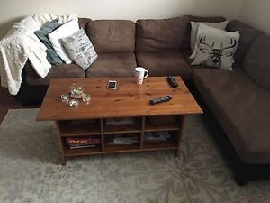 Brown Sectional and White Carpet included in price