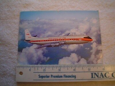 Trans Canada Air Lines Air Canada Vickers Vanguard Postcard In Flight