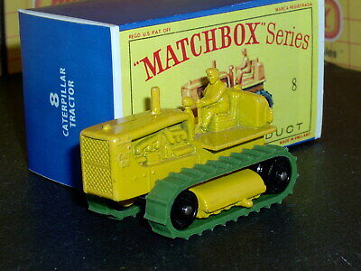Matchbox Lesney Caterpillar Tractor 8 c3 new treads BPR SC7 EXC & crafted box