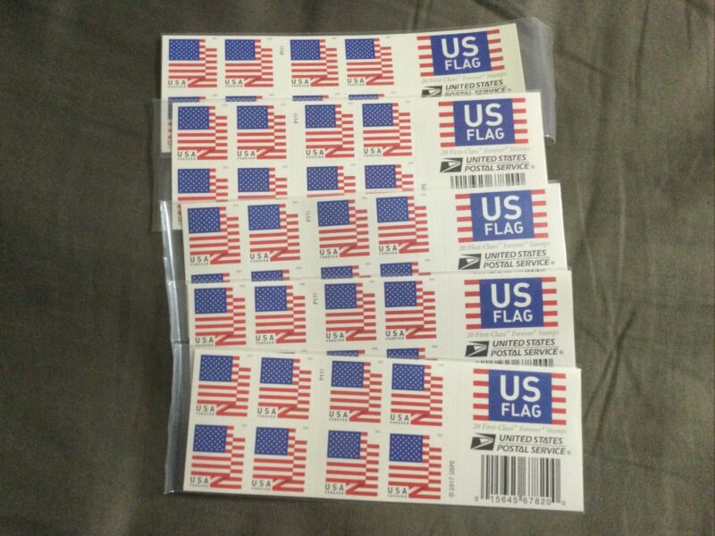 US American Flag Forever Stamps USPS US First Class Postage 100 Stamps