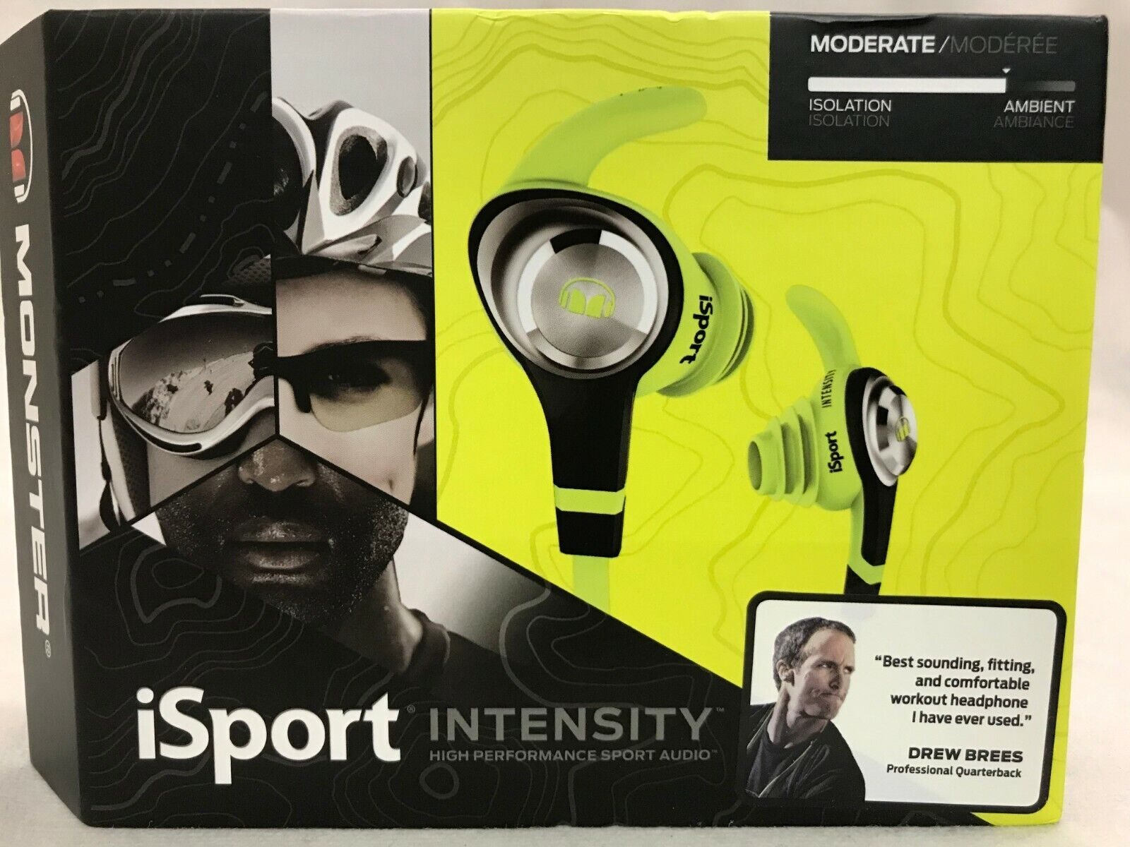 Monster - Isport Intensity Earbud Headphones - Neon Green