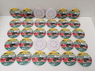 270 Wolfcraft Haft Schleifscheiben 125 mm für Exzenterschleifer Schleifpapier +