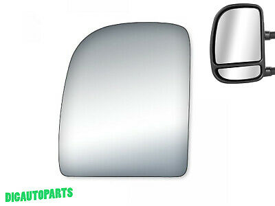 Upper Towing Mirror Glass for Ford E150,E150 Club Wagon,E-250,E350 Left Side LH - Ford E-150 Club Wagon Mirror